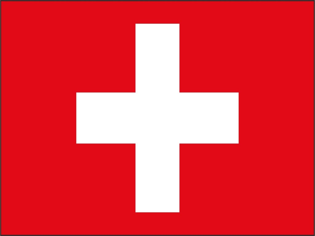 Fahne 'Schweiz' Suisse Switzerland drapeau flag Fan 2 Metal Ringe