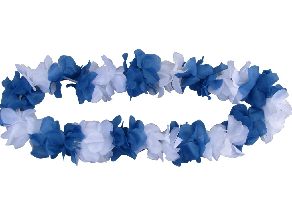 Flower garland blue-white