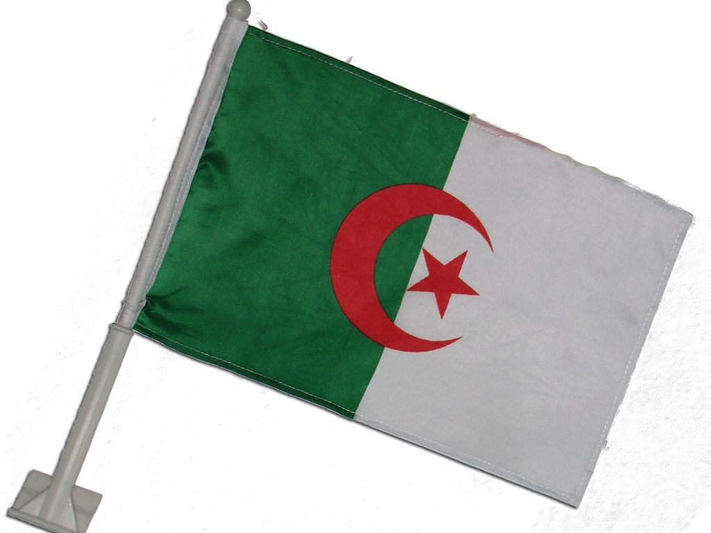 Algerien car flag