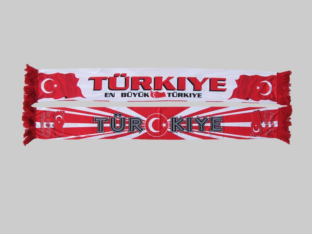 Polyester Fan supporter Schal scarf écharpe esarp Türkei Turkey Turquie Türkiye sublimation