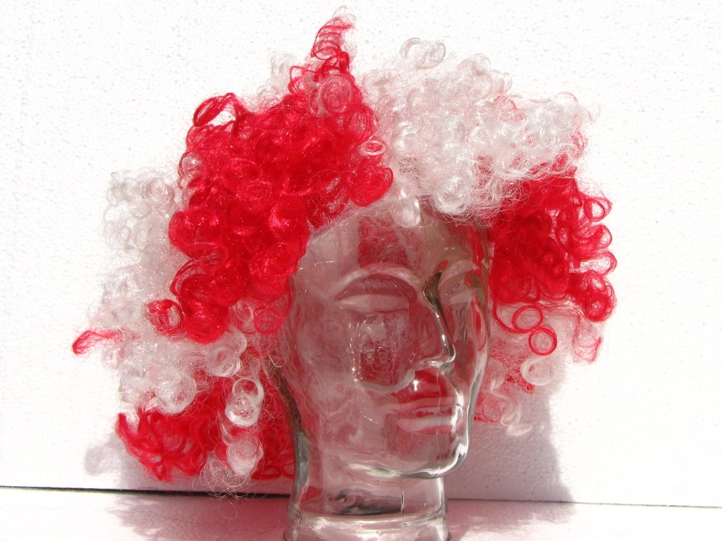 Periwig 'white-red'