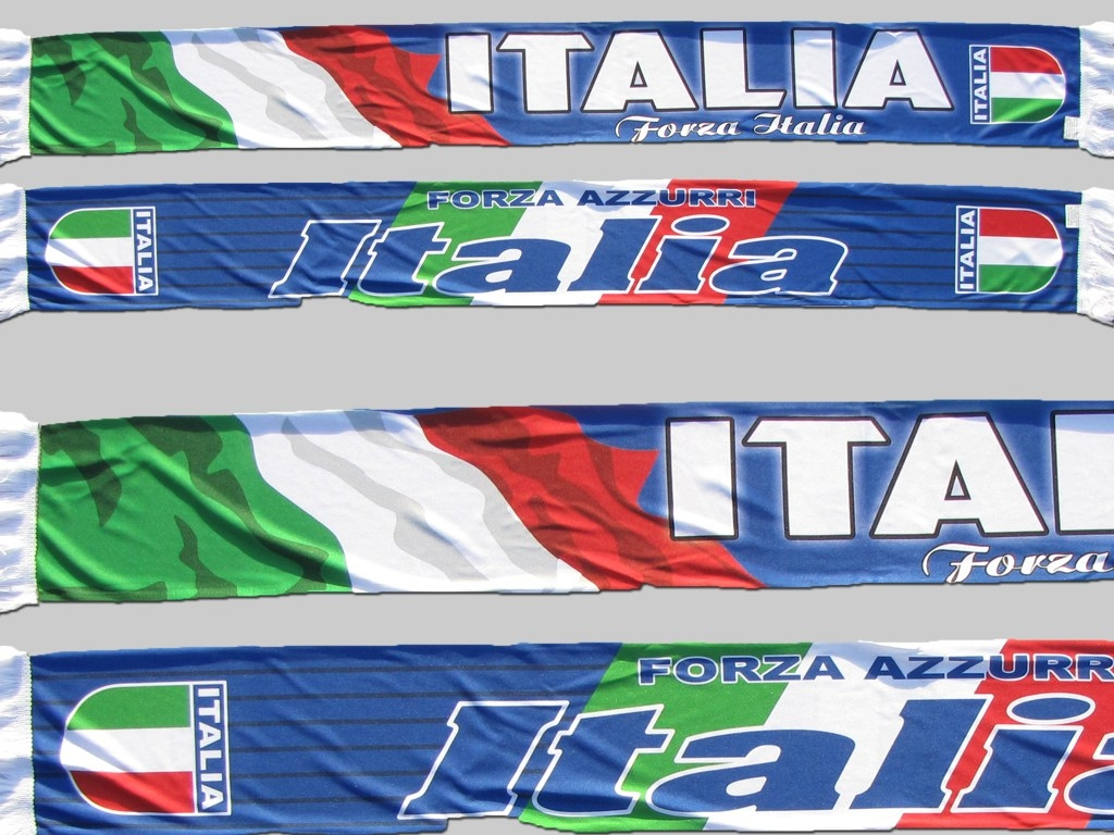 Polyester Fan supporter Schal scarf écharpe sciarpe Italien Italia Italy Italie sublimation