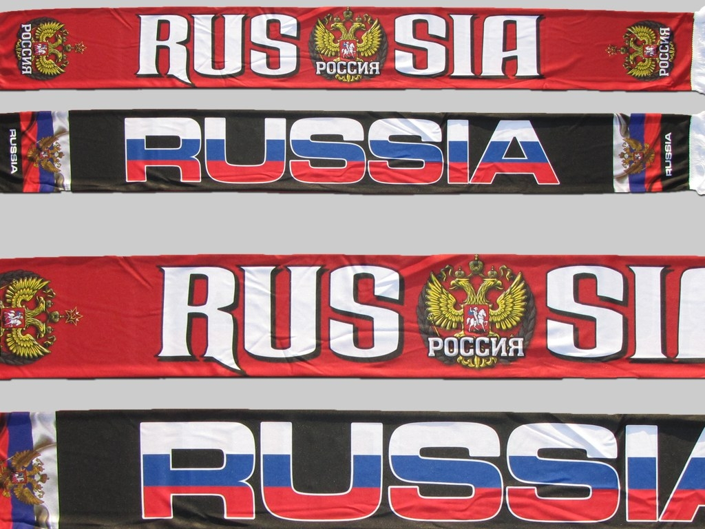 Polyester Fan Schal scarf écharpe Russland Russia Russie sublimation