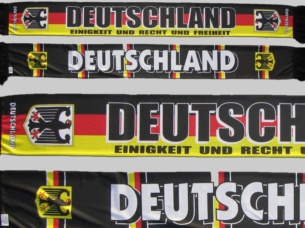 Polyester Fan supporter Schal Fanschal scarf écharpe sciarpe Deutschland Germany Allemagne sublimation