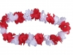 Flower garland red-white