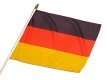 Hand Fahne Stock flag drapeau with woodstick Deutschland Germany Allemagne fan supporter